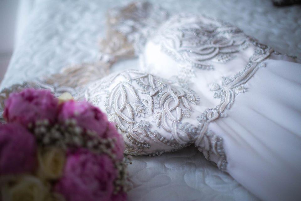 Detalle vestido de novia de Montse Arias Costura